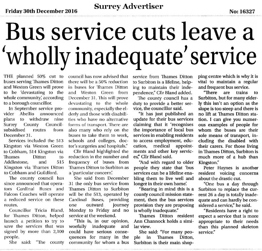 Save Our Buses - More Press Coverage