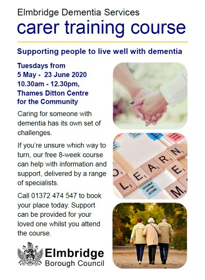 Dementia carer training course flyer p1 LR