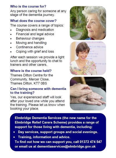 Dementia carer training course flyer p2 LR