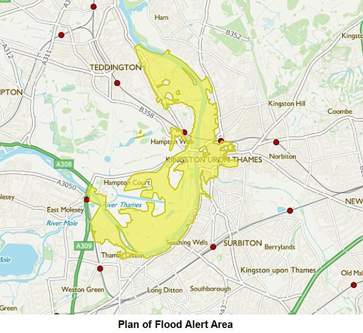 Fig 4 Plan of flood alert area