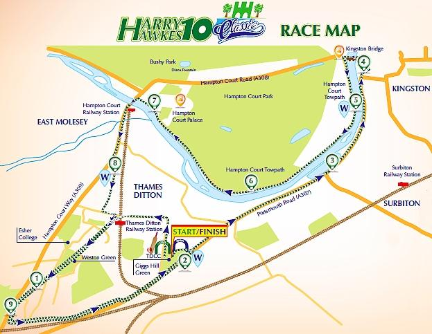 Harry Hawkes 10 route map