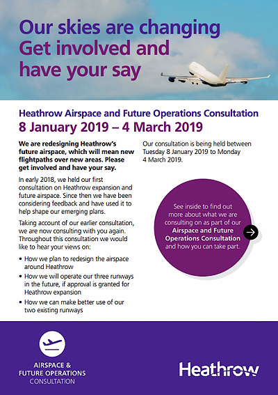 Heathrow consultation leaflet page 1