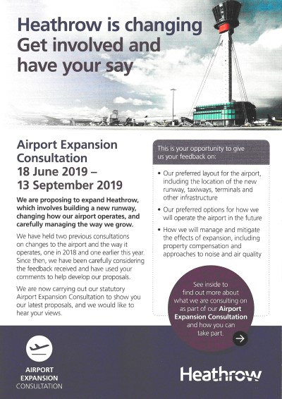 Heathrow expansion leaflet LR