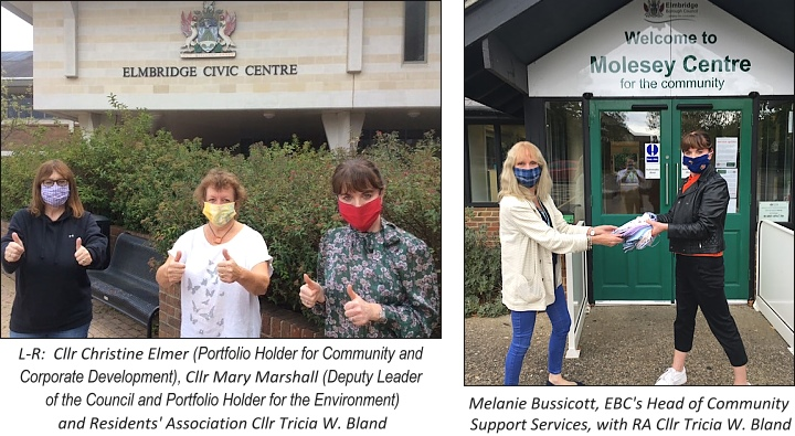 Reusable facemasks at Civic Molesey Centres