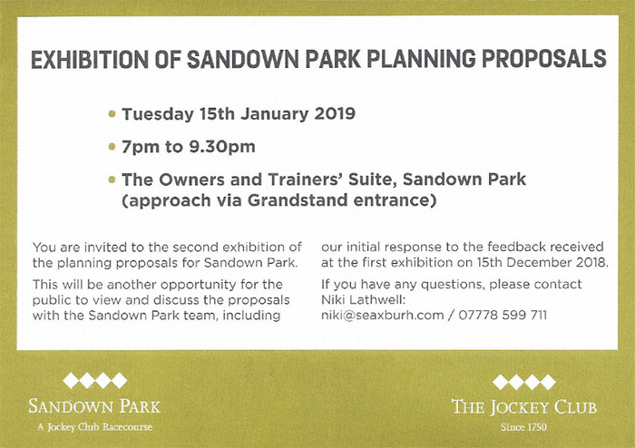Sandown Park 2nd consultation