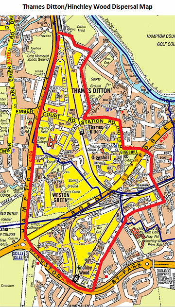 Surrey Police dispersal order map