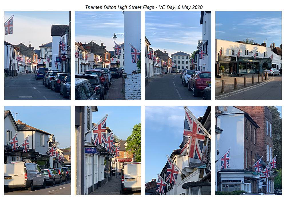 TD High Street VE Day flags