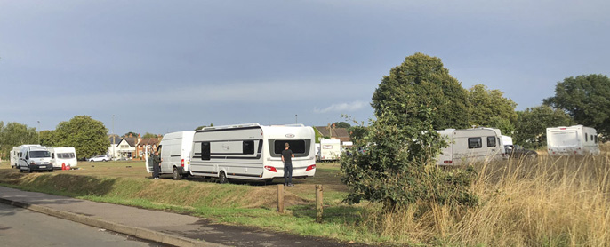 Travellers incursion Ditton Common2LR
